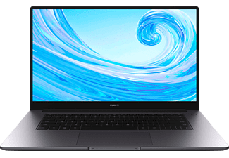 HUAWEI Matebook D 15, Notebook mit 15,6 Zoll Display, Windows 10 Home, Intel® Core™ i3 Prozessor, 8 GB RAM, 256 GB SSD, Intel® UHD Grafik 620, Space Gray