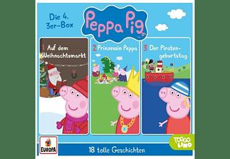 Peppa Pig Hörspiele - 04/3er Box (Folgen 10,11,12) [CD]