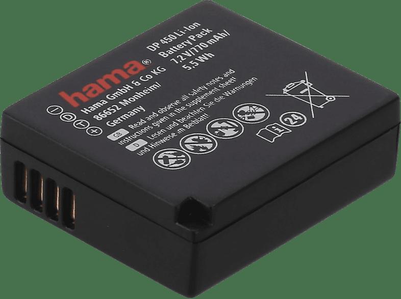 HAMA DP 450 Li-Ion Ersatzakku für Panasonic DMW-BLG10, 7.2 Volt, 770 mAH