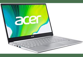 ACER Swift 3 (SF314-59-51B0) mit Tastaturbeleuchtung, Notebook mit 14 Zoll Display, Intel® Core™ i5 Prozessor, 8 GB RAM, 256 GB SSD, Intel Iris Xe Grafik, Silber