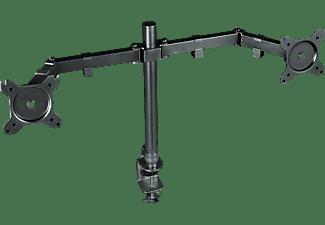 TRUST Dual Monitorhaltung GXT 1120 Mara, 32 Zoll Monitor, max. 16kg, Höhe 51cm, Schwarz