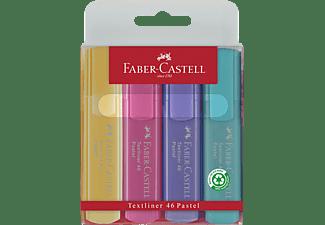 FABER-CASTELL 46 Pastel Textmarker, Mehrfarbig