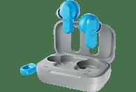 SKULLCANDY Dime, In-ear True Wireless Kopfhörer Bluetooth Light Grey / Blue