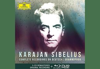 Herbert von Karajan - Karajan Sibelius: Sämtliche Aufnahmen Auf DG  - (CD + Blu-ray Disc)