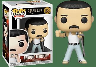 Figura - Funko Pop! Rocks: Queen- Freddie Mercury Radio Gaga 1985, 9.5 cm, Vinilo, Multicolor