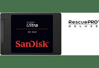 SANDISK Ultra® 3D Festplatte, 2 TB SSD SATA 6 Gbps, 2,5 Zoll, intern