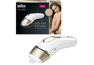 Depiladora IPL - Braun Silk·Expert Pro 5 PL5014, Luz Pulsada, Depilación Permanente, Menos De 5 Min, Blanco