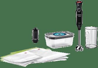 Batidora de mano - Bosch MS6CB61V1 Ergomixx, 1000 W, 12 Velocidades, 1000 ml, Función Turbo, Negro