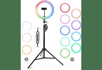 4SMARTS Tripod LoomiPod RGB with Colour LED Lamp, Schwarz
