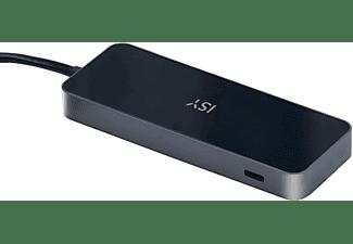 ISY Adapter IAD-1028 USB-C 4-in-1 Hub auf 2x USB 3.1 Typ-A, 1x USB 3.1 Typ-C, 1x HDMI 2.0, 1x PD, Silber