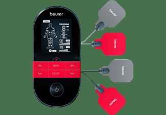 Electroestimulador - Beurer EM 59 Heat, Estimulación muscular, masaje y terapia de calor, Negro