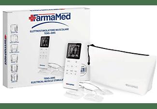 Electroestimulador - Farmamed 54260101 TENS+EMS Sport Fitness, LCD, 107 Programas, Fitness y Sport, Blanco