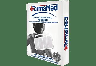 Aparato médico - Farmamed 05431 Electrodos de Recambio Almohadillas Gel, 20 Electrodos, 40x40 mm, Blanco