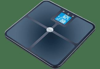 Báscula de baño - Beurer BF-950, 180 kg, Bluetooth, IMC, Health Manager, Vidrio, Azul