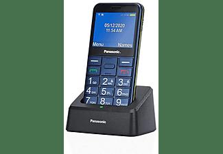 "Teléfono - Panasonic KX-TU155, Con Botones Físicos, 2.4"", TFT LCD, Bluetooth, Linterna LED, Azul"