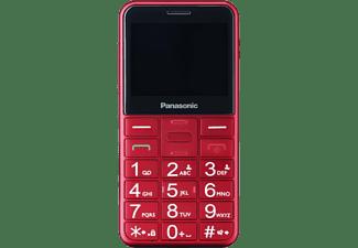 "Teléfono - Panasonic KX-TU155, Con Botones Físicos, 2.4"", TFT LCD, Bluetooth, Linterna LED, Rojo"
