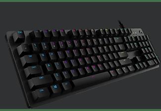 LOGITECH Gaming Tastatur G512 Tactile Carbon RGB, USB, Mechanisch, QWERTZ