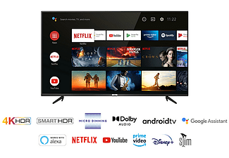 """TV LED 43"""" - TCL 43P618, 4K HDR, UHD Android TV, Micro Dimming, Smart HDR, Dolby Audio, HDR10, Negro"""