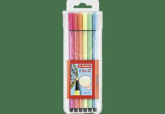 STABILO Pen 68, 6er Pack, 6 Neonfarben Filzstift, Mehrfarbig (Neon)