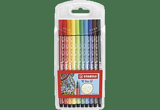 STABILO Pen 68, 10er Pack, 10 verschiedene Farben Premium-Filzstift, Mehrfarbig (Neon)