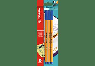 STABILO Point 88, 3er Pack Fineliner, Blau