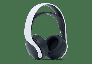 Auriculares inalámbricos - Sony Pulse 3D, Bluetooth, Cancelación de ruido, USB-C, Jack 3.5mm, Blanco