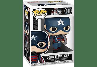 Figura - Funko POP! John F. Walker, Marvel Studios The Falcon And The Winter Soldier, 9 cm, Vinilo, Azul