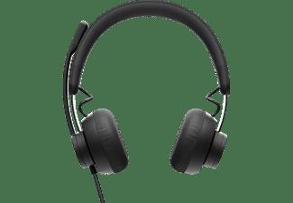 LOGITECH Office Headset Zone 750, USB-C/A, On-Ear, Schwarz