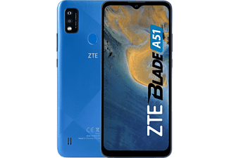 "Móvil - ZTE Blade A51, Gris, 32 GB, 2 GB RAM, 6.52"" HD+, SC9863A Octa-core, 3200 mAh, Android 11 Go"