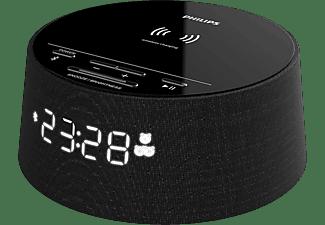 Radio despertador - Philips TAPR702/12, Bluetooth, Carga inalámbrica Qi, USB, 10W, Negro
