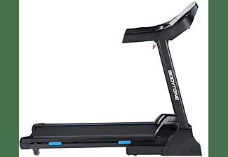 Cinta de correr - Bodytone DT18, 180 cm, 18 km/h, 140 Kg, 2610 W, 15 Niveles Inclinación, Sensor Pulso, Negro