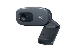 LOGITECH HD Webcam C270, integriertes Mikrofon mit Rauschunterdrückung, Schwarz (960-001063)