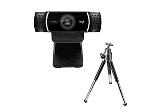 LOGITECH C922 Pro Stream Webcam mi Stativ, Full-HD 1080p, Schwarz
