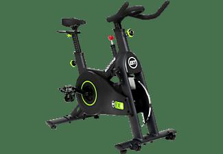 Bicicleta estática - Bodytone Ciclo Indoor Ex4, Volante de inercia, 2 Ruedas de transporte, Negro