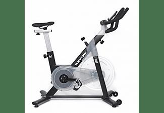 Bicicleta estática - Bodytone DS25, Correa POLY-V, Manillar ajustable, Ruedas de transporte, Negro