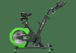 Bicicleta estática - Bodytone DS06, Rueda Inercia Trasera + Display, LCD, Volante de inercia, Negro/Verde