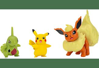 Pokémon - Battle Figuren 3er Pack - Pikachu, Larvitar und Flamara