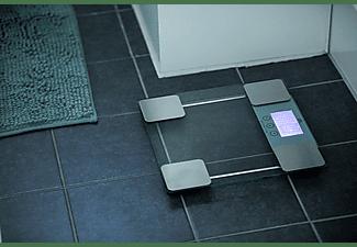 Báscula de baño - OK OPS 200 SILVER Peso máximo 150kg, Precisión de 100g, Pantalla LCD