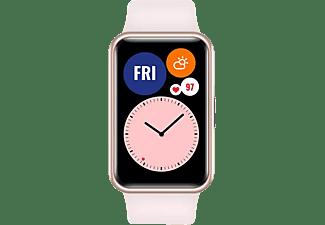 "Smartwatch - Huawei Watch Fit,1.64"" AMOLED, 180 mAh, 10 días, DK3.5+ST, 4GB, GPS, Bluetooth, Polímero, Rosa"