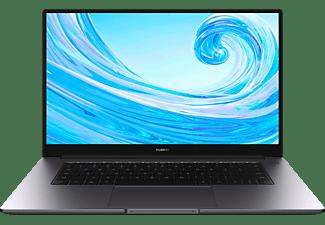 HUAWEI MATEBOOK D 15, Notebook mit 15,6 Zoll Display, Windows 10 Home, Intel® Core™ i5 Prozessor, 8 GB RAM, 512 GB SSD, Intel® UHD Graphics 620, Space Gray