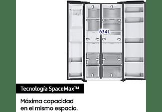Frigorífico americano - Samsung RS68A8842B1/EF, No Frost, 634 l, Dispensador agua y hielo, 178 cm, Negro