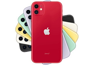 "Apple iPhone 11, Rojo, 64 GB, 6.1"" Liquid Retina HD, Chip A13 Bionic, iOS, (PRODUCT)RED™"