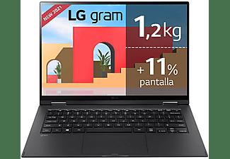 "Convertible 2 en 1 - LG Gram 14T90P-G.AA78B, 14"", Intel® Evo™ Core™ i7-1165G7, 16GB, 512GB SSD, Iris® Xe, W10"