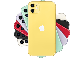"Apple iPhone 11, Amarillo, 256 GB, 4 GB RAM, 6.1"" Liquid Retina HD, Chip A13 Bionic, iOS"
