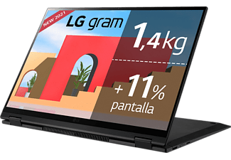 "Convertible 2 en 1 - LG Gram 16T90P-G.AA78B, 16"", Intel® Evo™ Core™ i7-1165G7, 16GB, 512GB SSD, Iris® Xe, W10"
