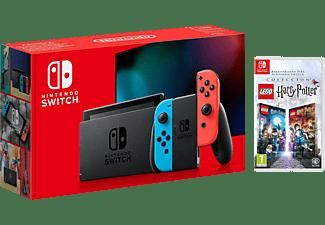 Consola - Nintendo Switch, Joy-Con, Azul y Rojo + Lego Harry Potter Collection
