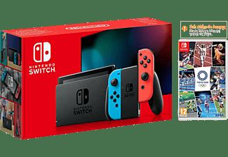 Consola - Nintendo Switch, Joy-Con, Azul y Rojo + Juegos Olímpicos De Tokyo 2020 (Código de descarga)