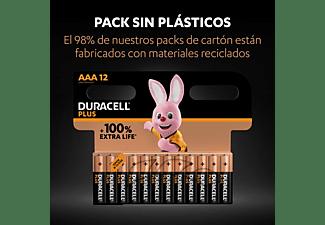 Pilas AAA - Duracell PLUS MN2400 AAA LR03 / LR3, Alcalinas , 1.5 V, Paquete de 18 pilas, Negro