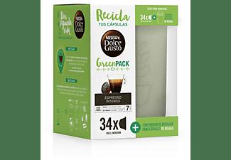 Cápsulas monodosis - Dolce Gusto Green Pack Espresso Intenso, 34 Cápsulas, 34 Tazas + Contenedor reciclaje