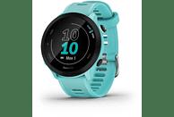 GARMIN Smartwatch Forerunner® 55 Türkisblau/Schwarz mit Silikon-Wechselarmband 20mm